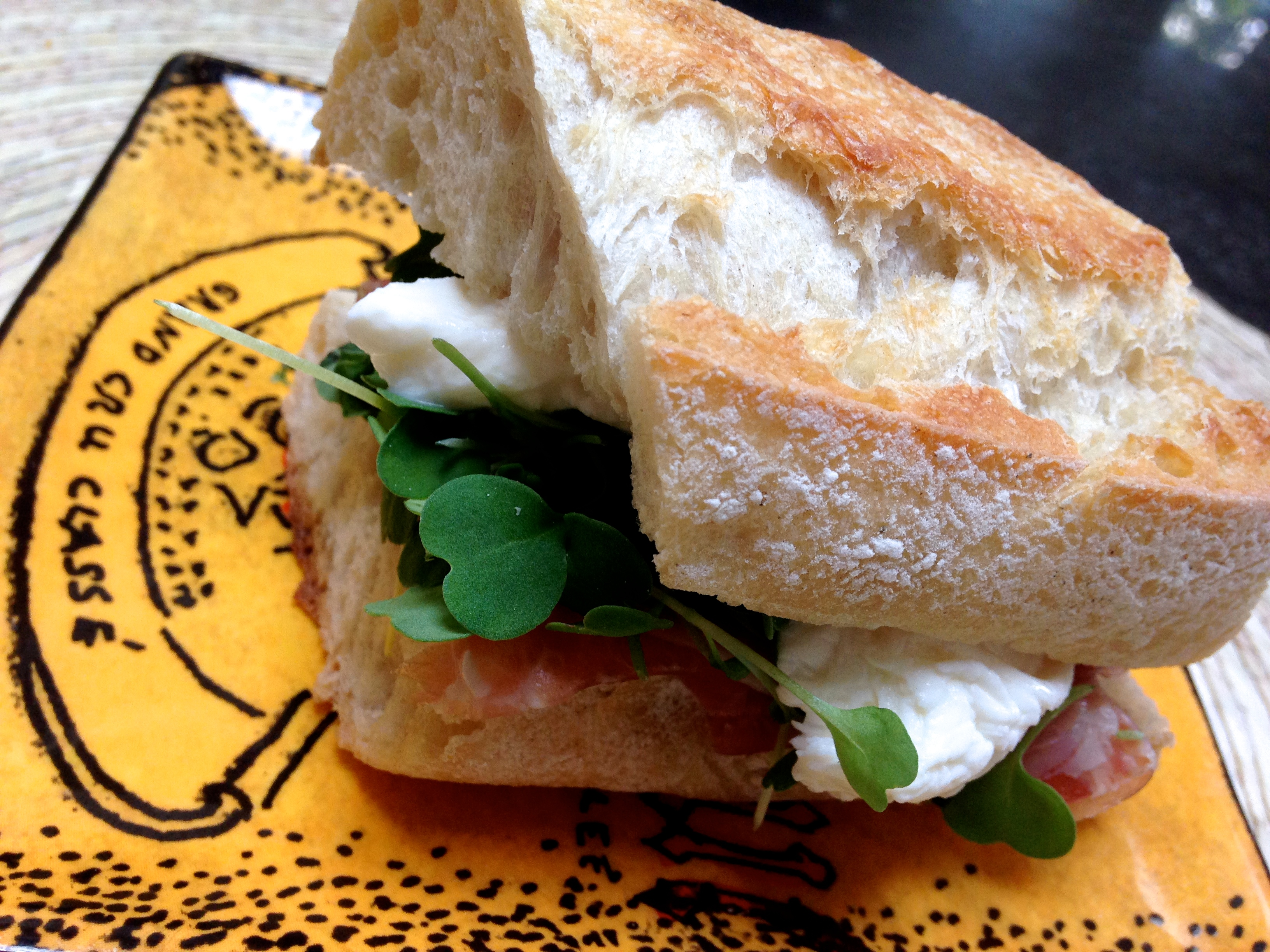 Prosciutto Tapenade Sandwich with Fresh Mozzarella | theeastyle